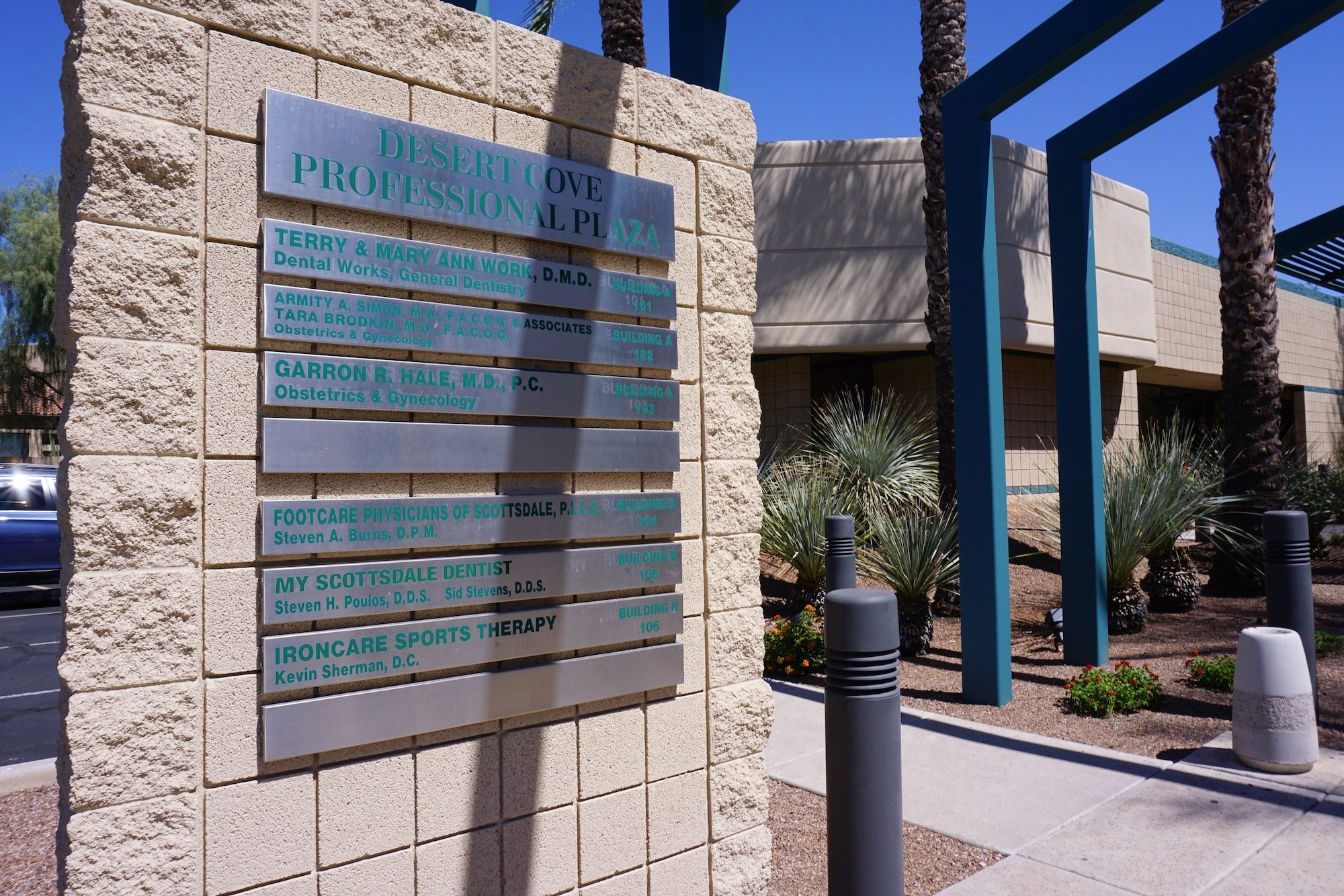 Desert Cove Professional Plaza Building Directory