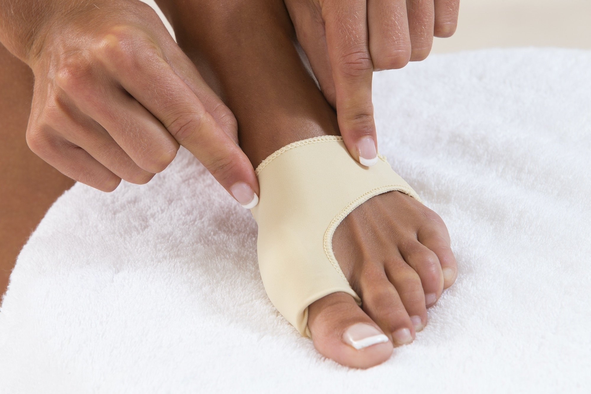 Young Woman Wearing Bunion Treatment Brace