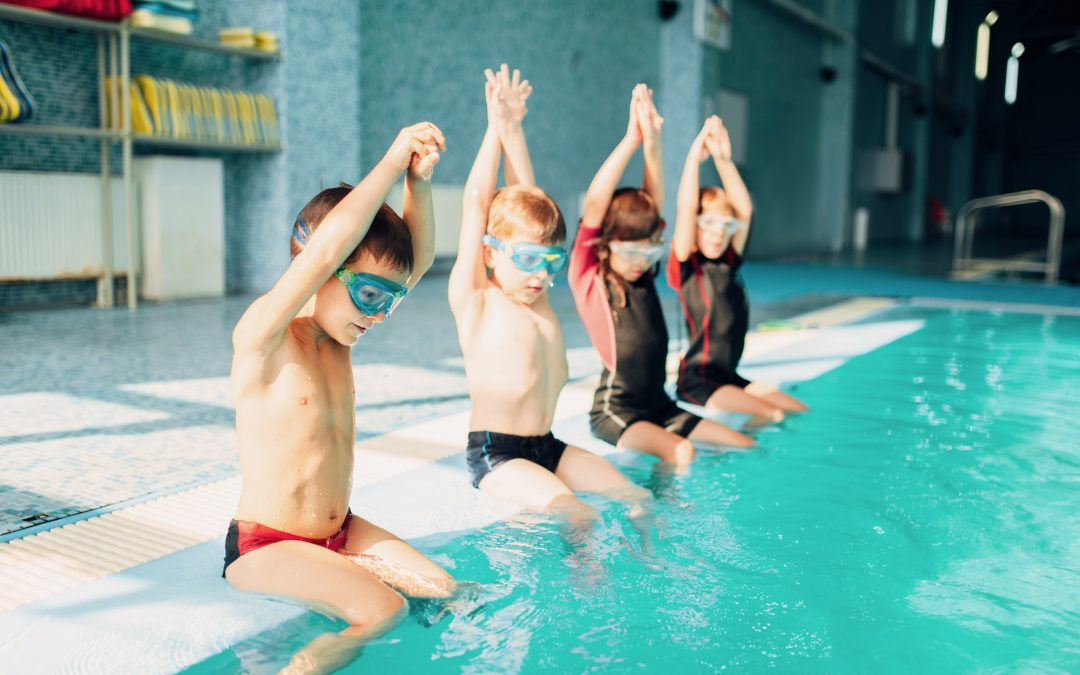 Pediatric Patients Getting Ready to Jump into Public Pool