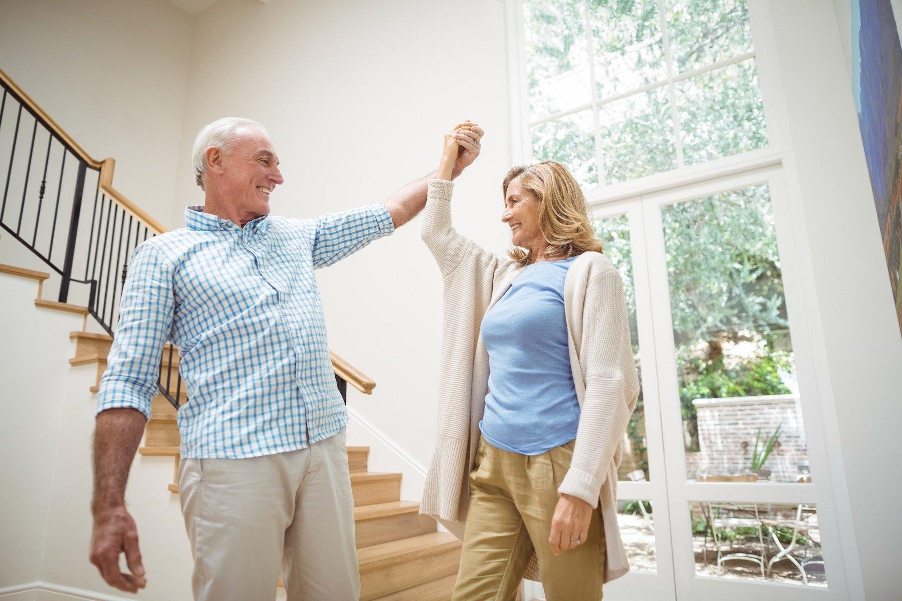 Senior Couple Dancing Away Bone Spurs in Feet